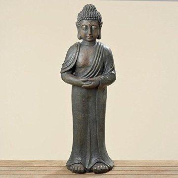 Figura grande de Buda 80 cm de altura de resina artificial de alta calidad , color marrón/gris 3
