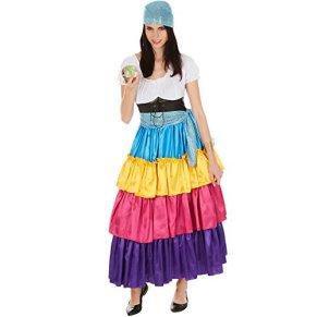TecTake dressforfun Disfraz de Pitonisa para Mujer | Vestido Largo Espectacular | Incl. Cinturón y Pañuelo Extra para la Cabeza (M | No. 301011)