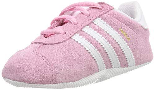 adidas Gazelle Crib, Sneaker Unisex Bimbo, Rosa True Pink/Ftwr White/Gold Met, 17 EU
