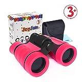 Juguetes para Niñas de 4 años, Joy-Jam Pequeña Durable Binoculares para Niños, Juguetes de 4-5 años para Viajar y Juego al Aire Libre Rosa.