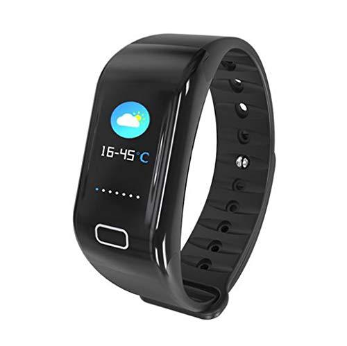 Inteligente Bluetooth Digital Al aire libre Reloj deportivo electrónico Pulsera multifunción Contador de pasos Calorías del podómetro Monitor de sueño de frecuencia cardíaca Impermeable para hombres