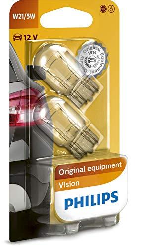 Philips 12066B2 Vision W21 - Set 2 lampadine per luci segnaletiche 5W