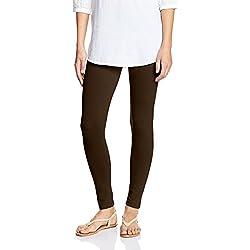 Myx Women's Cotton Stretch Leggings (AW16LEG01I_Brown_Medium)