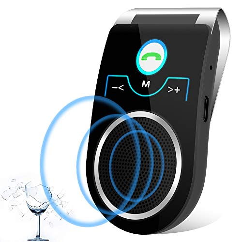 [2 Anni Garanzia] Aigital t825 Kit Vivavoce Bluetooth V4.1 per Auto,per Chiamate Viva voce, GPS e...