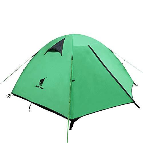 GEERTOP Tienda iglú de Campaña Impermeable Ligera 3 Personas 3 Estaciones - 180 x 210 x 120 cm (2,5kg) - UV Resistente para Acampar Excursionismo y Turismo (Verde)