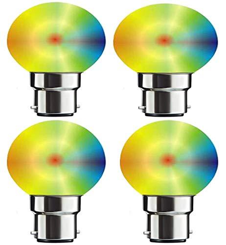 Parvino Girgit Multicolor 0.5 watt led Bulb 7 Colour Auto Change in 1 led Bulb Combo Pack of pcs-4