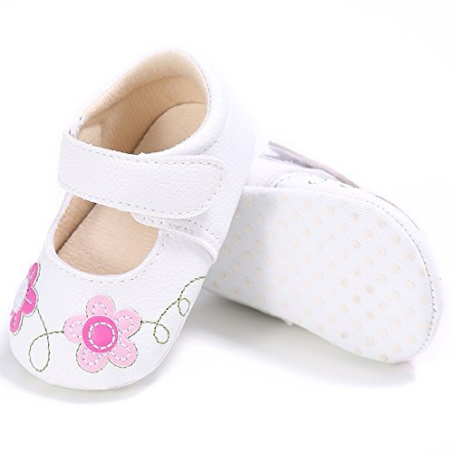 f02970b3f517 Baby Girls Flower Shoes Toddler PU Leather First Walking Shoes ...