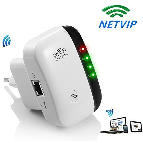 NETVIP Ripetitore WiFi Mini Ripetitore 300Mbps Wireless Range Extender 2 Antenne Interne, Access...
