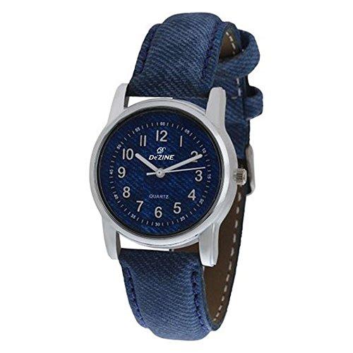 Dezine Analogue Blue Dial Womens Leather Watch - DZ-LR060-BLU-BLU
