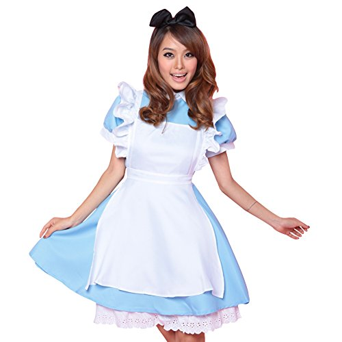 LPATTERN Mujer Disfraz Carnaval Halloween Fiesta Club Partidos Vestidos Uniformes Elsa Frozen Criada Alicia 2BG M