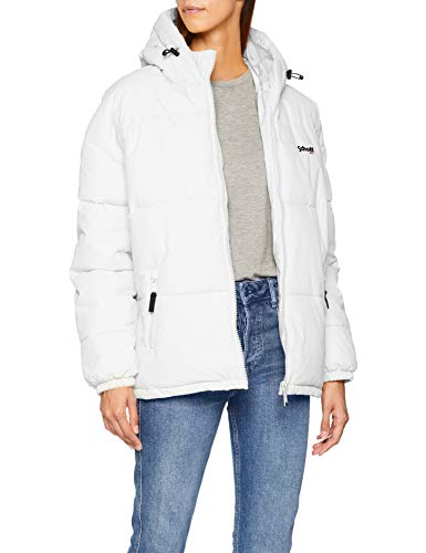 Schott NYC Jktalaska Giacca, Bianco White, Taglia Produttore XL Donna