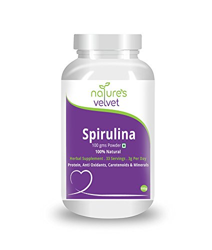 Natures Velvet Lifecare Spirulina Powder, 100 gms - Pack of 1