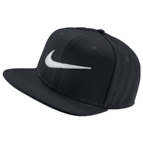 Nike U NK Pro Swoosh Classic Gorra, Hombre, Negro/Plata, Talla Única