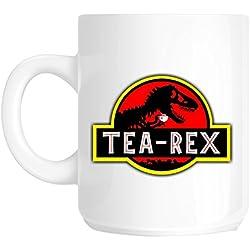 Parque jurásico flashsellerz lema taza de té-Rex