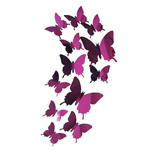 YWLINK Wall Stickers Decal Butterflies Arte De La Pared del Espejo 3D Decoraciones Caseras