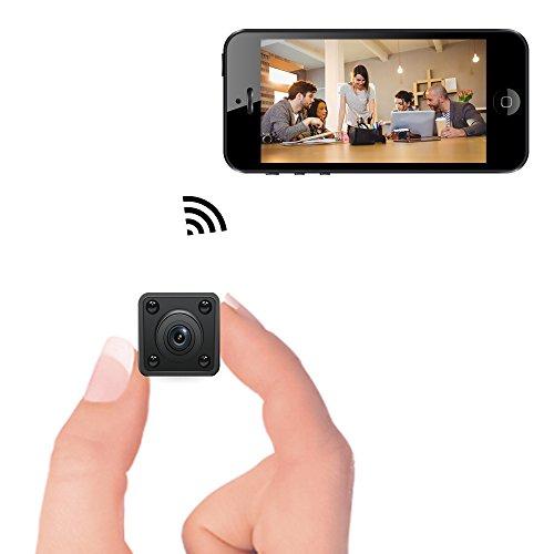 Mini Caméra WiFi - Bysameyee Spy Cam cachée sans Fil avec la Vision Nocturne de détection de Mouvement, enregistreur vidéo HD 720p IP avec Mobile Live View pour Android iPhone