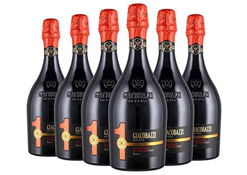 Lambrusco Grasparossa di Castelvetro DOC Amabile 2 Fruttato box da 6 bottiglie Giacobazzi 0,75 L