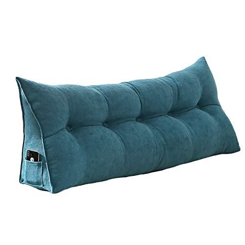 VERCART cuscino di lettura cuscino comodo triangolare letto divano sfoderabile in velluto 60cm...