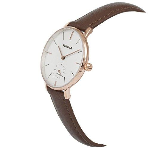 Prisma Damen Armbanduhr Retro Corum, Edelstahl rosegold mit Analog Quarzwerk, 5 ATM und Saphirglas P.1441 - 2