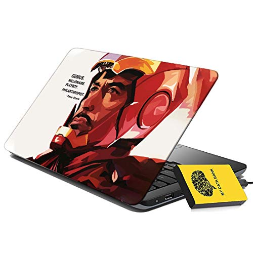 100yellow Tony Stark Gaming Laptop Skin Decal 15.6 Inch for Dell HP Acer Asus Lenovo