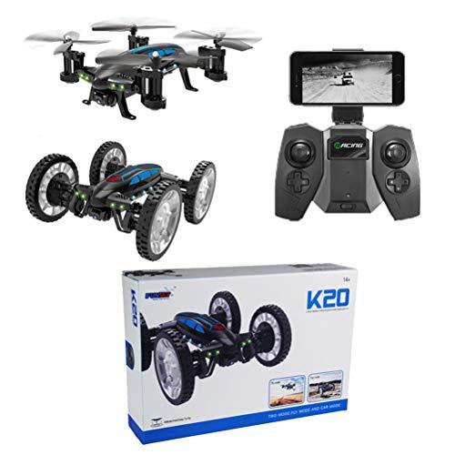 Mallalah RC Drone Voiture 2 en 1Quadricoptère Car Air-Road 2.4G Télécommandé 0.3 MP Caméra WiFi FPV Transmission en Temps Réel Volante Véhic... 5