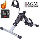 AGM Mini Cyclette Pedaliera Fitness Pieghevole per Braccia e Gambe con...