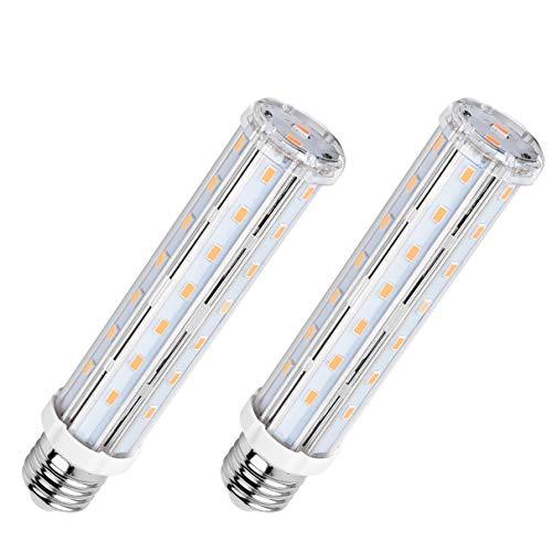 SanGlory 2 Pezzi Lampadina LED E27 15W Equivalenti a 120W, Lampadine LED Mais Bianco Caldo 2700K...