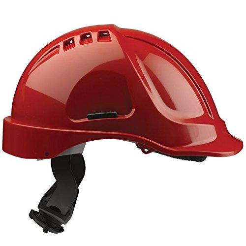 Scott seguridad hc635/VR/CSB - casco con ventilación, Predrilled, para 4puntos cordón, rojo