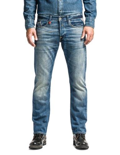 Replay Herren Regular Slim Leg Jeans Waitom, Blau (Blue Denim 009),...
