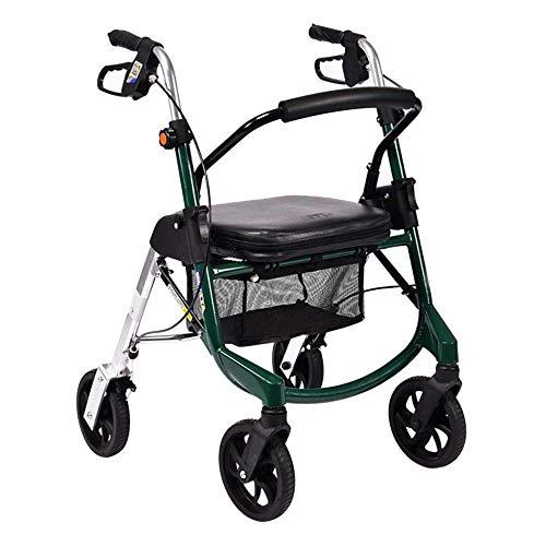 LIULIFE Shopping Trolley Carrello della Spesa Old Man 4 Wheeled Walker può Prendere Una Sedia A...