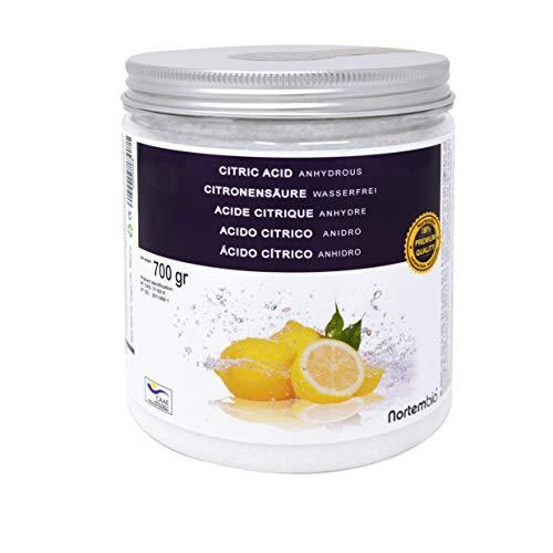 Nortembio Acido Citrico 700g. Polvere Anidro, 100% Puro. per Produzione Biologica. Sviluppato in...