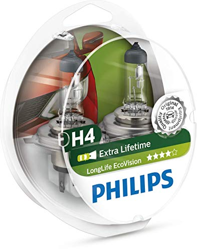 Philips 0730537 H4 Ecovision Ll Lampada, 12342 S2