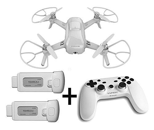 Yuneec Breeze kompakter Quadrocopter mit Premium 4K-UHD-Kamera (24 cm Durchmesser, Videofunktion, 13MP) und Controller Set und 2X Akku weiß