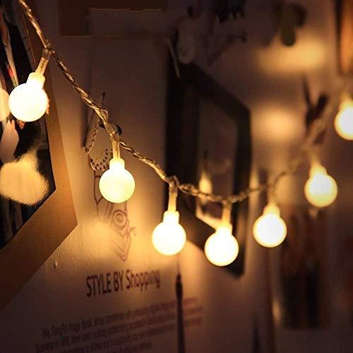 JZK 5 Metri stringa luci LED batteria ghirlanda luminosa palline lucine decorative catene luminose...