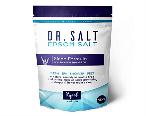 Ryaal Dr.Salt Epsom Salt - 5Kg - All Natural Therapeutic Soak With Lavender Essential Oil (5 Kg)