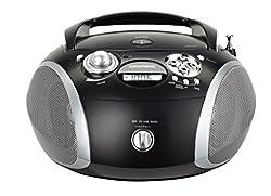 Kaufen Grundig GRB 2000 Tragbare Radio Boombox Schwarz/Silber