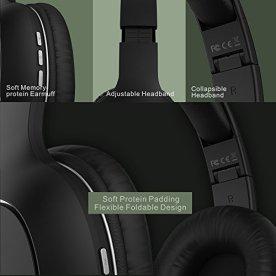 Auriculares-Bluetooth-de-Diadema-Inalmbricos-Yutre-Cascos-Bluetooth-Plegable-con-Micrfono-Manos-Libres-y-Hi-Fi-Sonido-Orejeras-de-Memoria-Suave-para-TV-PC-Tablet-Mvil-Negro