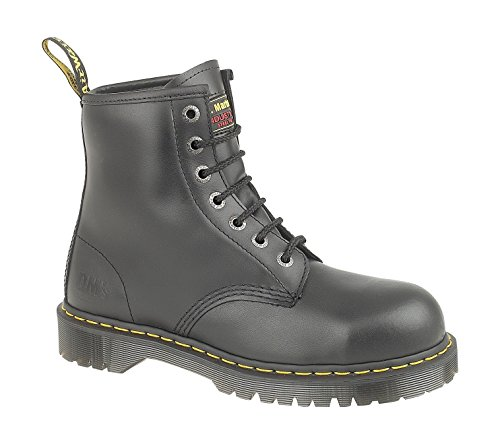 The Dr. Martens Men's Icon Holkham ST Safety Boots look heavy but they are not tasking on the feet. Those in search of laced-up rigger boots can settle for these ones. They are made of leather and other synthetic materials thus you can expect durability. The steel toe cap is present for protection while the linings provide comfort. What gave this product an extra edge was the anti-bacterial insole. Those working in hot conditions will find the combination of breathable linings and anti-bacterial soles a match made in heaven. They may take a few days to break in but once you do, they will make good company as you work. Depending on your supplier, they may be more or less expensive but worth the trouble.