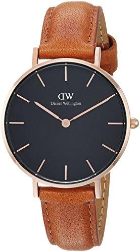 Daniel Wellington Damen Analog Quarz Uhr mit Leder Armband DW00100166