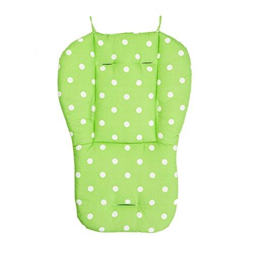 Copriseduta per passeggini YeahiBaby Cuscino spessore universale per Seggiolino Carrozzina Passeggino Ovetto Seggiolone con pois (Verde)