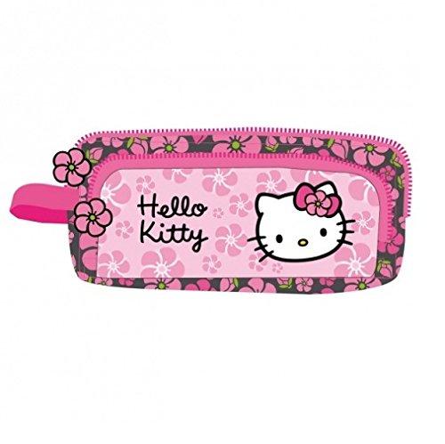 Hello Kitty, astuccio a due scomparti di Hello Kitty, colore nero/rosa (HK38)