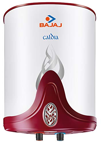 Bajaj Caldia Storage 15 LTR Vertical Water Heater, White, 4 Star