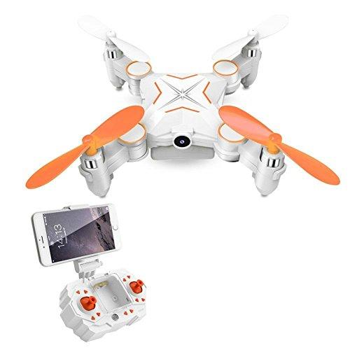 Rabing Mini Pieghevole RC Drone FPV VR WiFi RC Quadcopter Telecomando Drone con Telecamera HD 720p...