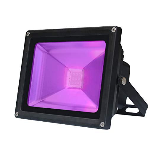 UV LED nero Luce, LED 10W decorativa viola, LED per risparmio energetico IP 65 Impermeabile...