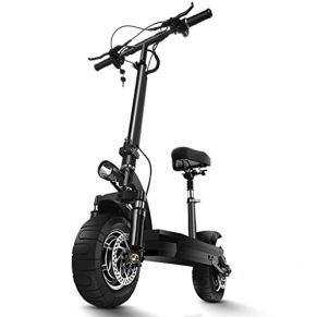 Scooter electrico-Patinete electrico Adulto, Ajustable la Altura, Scooter Velocidad máxima 40km/h, Rango de 60KM Diseño Plegable motorizado E Scooter con Asiento