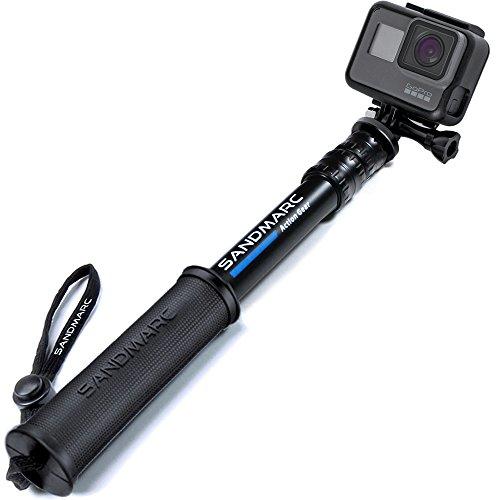 SANDMARC Pole - Compact Edition: Impermeabile Palo (Selfie Stick) per GoPro Hero 6, Hero 5, 4, Session, 3, 2, e HD - Alluminio Telescopico