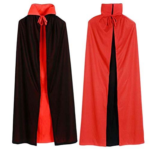 fdaea015b24 BESTOYARD Halloween Black Red Cosplay Costume Theater Prop Death Cloak  Stand Collar Party ...