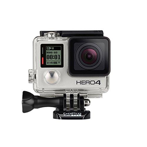 GoPro HERO4 Silver Edition Adventure - Videocámara deportiva (12 Mp, Wi-Fi, Bluetooth, sumergible hasta 40 m), (versión inglesa/francesa)