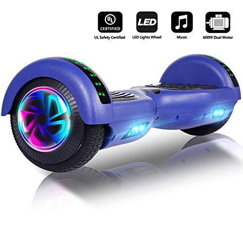 Jolege Hoverboard 6.5' Self Balance Scooter Elettrico con Bluetooth 2 * 300W Motore, Monopattino...