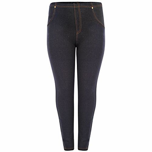bcfde7ee0f7 Womens Plus Size High Waisted Denim Blue Black Jeggings Jean ...